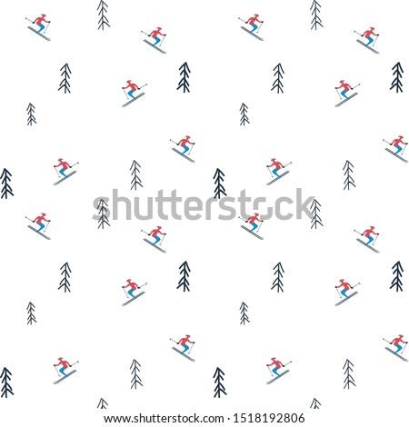 winter holiday vector pattern