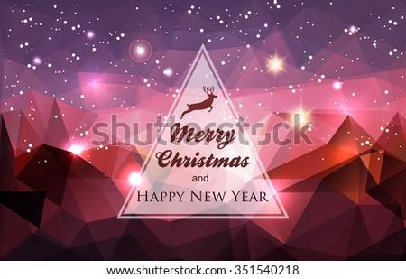 winter holidays card abstract