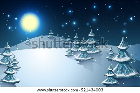 winter holidays landscape with
