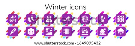 winter icon set 14 filled