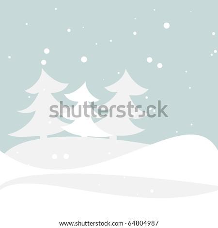 Winter illustration. Vector.