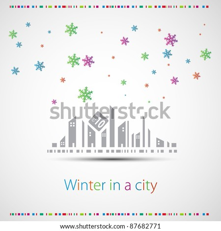 Winter in a city
