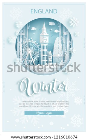 winter in london  england for