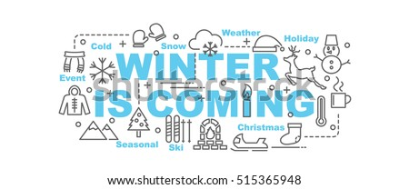 winter is coming vector banner
