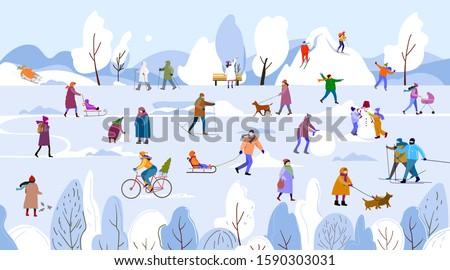 winter is herepeople spend