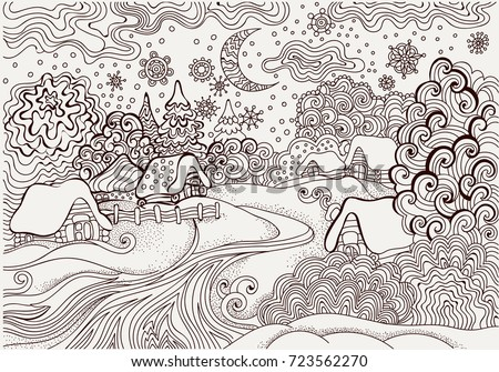 winter kids coloring page