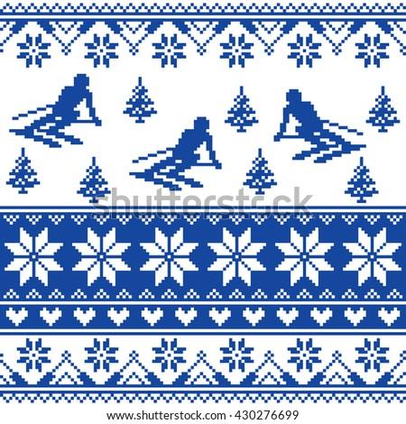 winter knit pattern   man