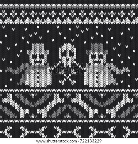 winter knitted sweater design