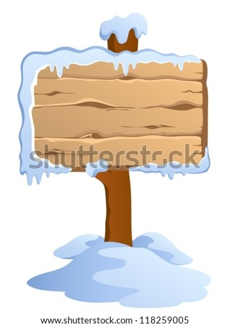Winter labels theme image 4 - vector illustration.