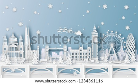 winter landscape and christmas