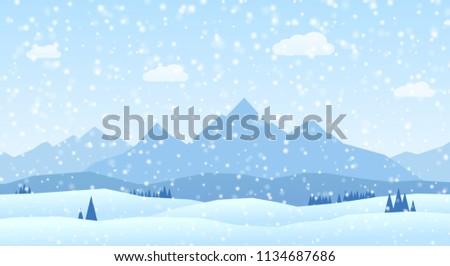 Winter Landscape - Christmas Background
