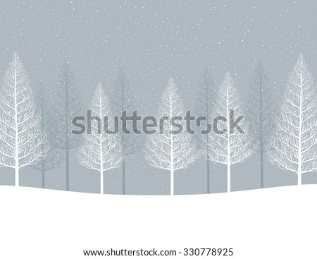 Stock Photo Winter landscape. Forest