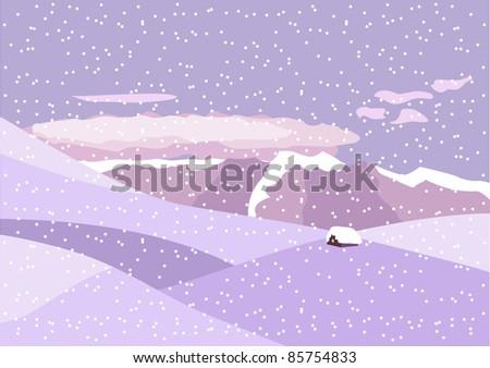 winter landscape mountaines