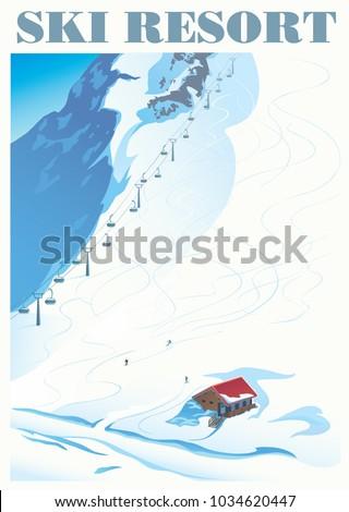 winter landscape of a ski...