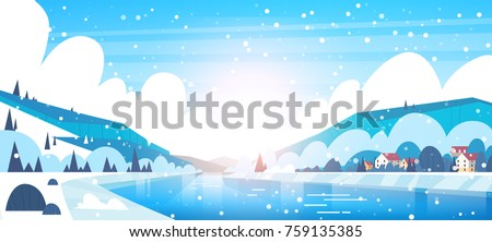 winter landscape of small