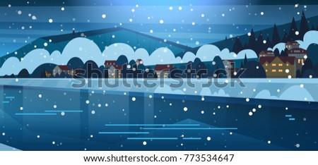 winter landscape of small