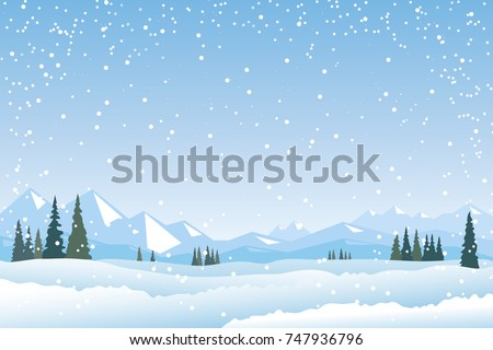 snow season background template download free vector art stock