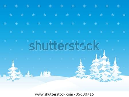 Winter landscape. Vector vertical background of winter landscape.