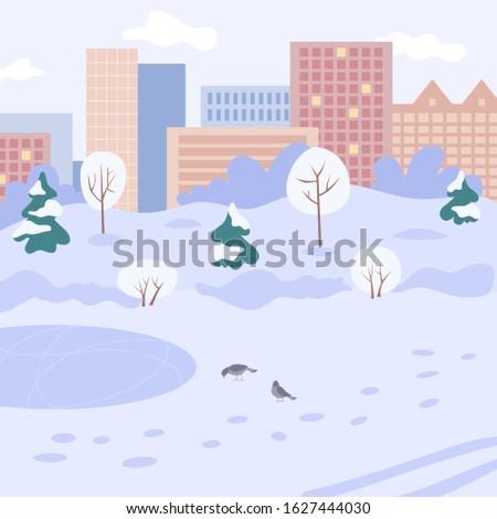 winter landscape winter city