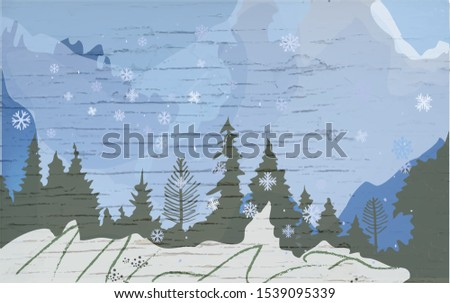 winter landscape with hills