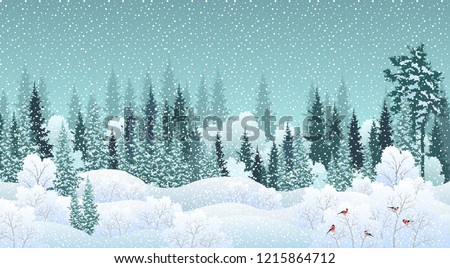 winter landscape with snowy