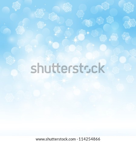 Winter light background