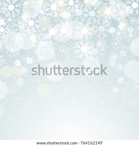 Winter Lights on blue background with lens effect. EPS 10 vector Illustration.