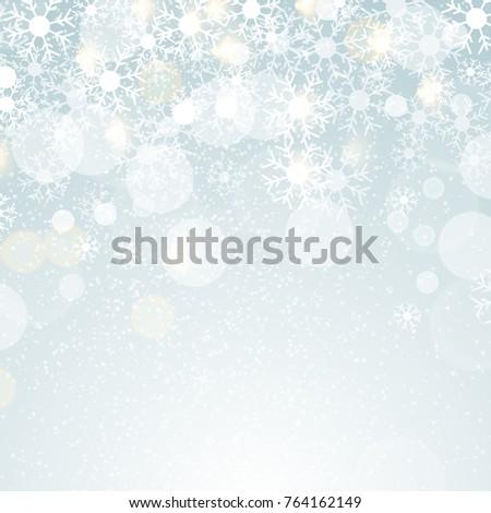 Winter Lights on blue background with lens effect. EPS 10 vector Illustration.