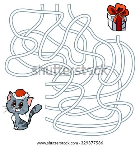winter maze game for children