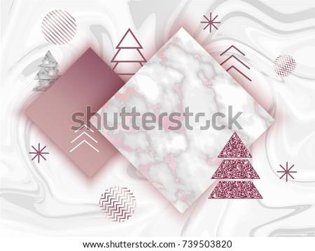 winter minimalistic poster in