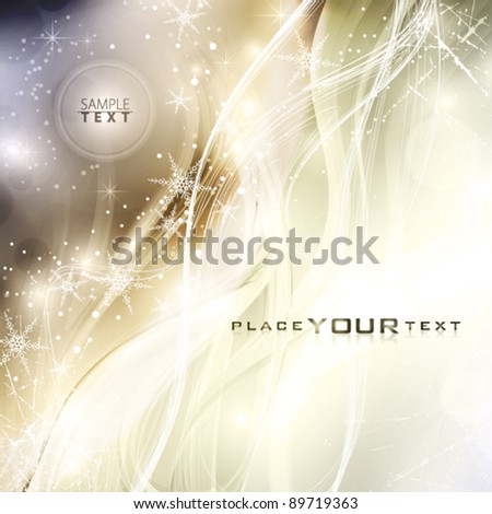 Winter moon. Abstract holiday background. Vector