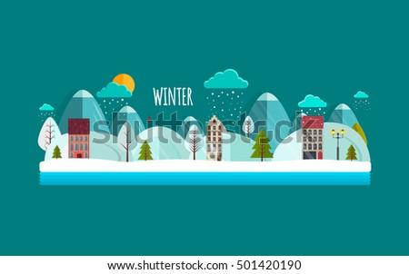 winter nature landscape winter