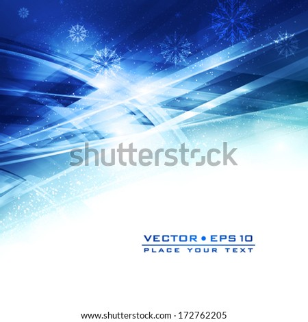 Winter night. Abstract icy background. Vector - stock vector