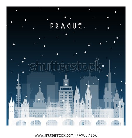 winter night in prague night