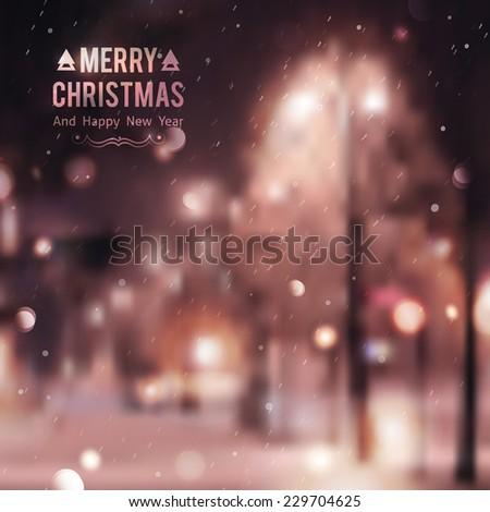 winter night street  vector
