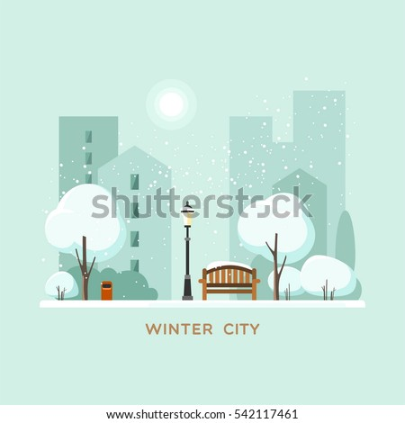 winter park in the city vector