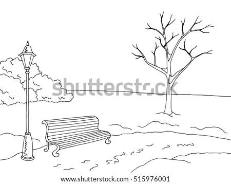 winter park landscape graphic