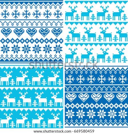 winter pattern cross stitch
