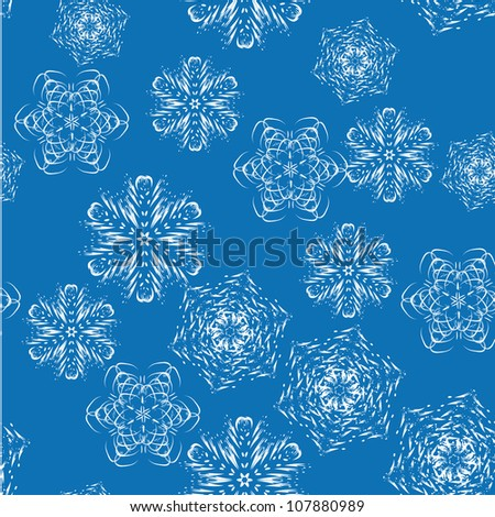 winter pattern for use in various festive design with beautiful snowflakes
