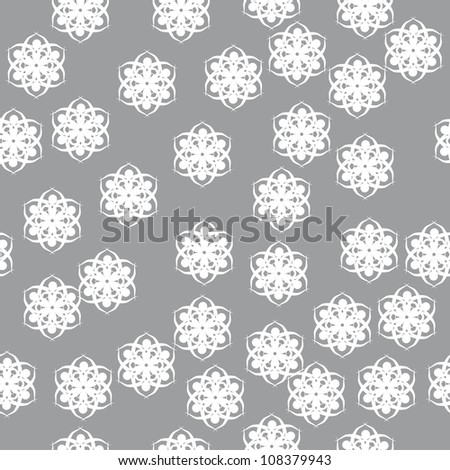 winter pattern for use in various festive design with beautiful snowflakes - stock vector
