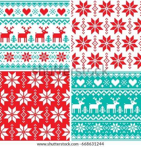 winter pattern set  christmas