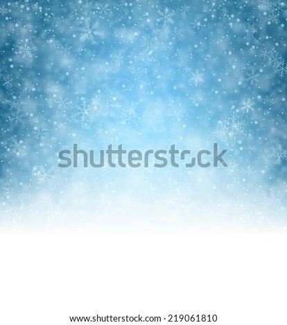 Winter pattern with crystallic snowflakes. Christmas background. Vector.