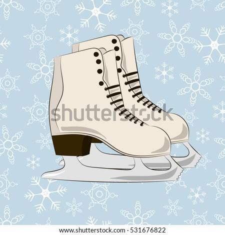 winter picture skates on the