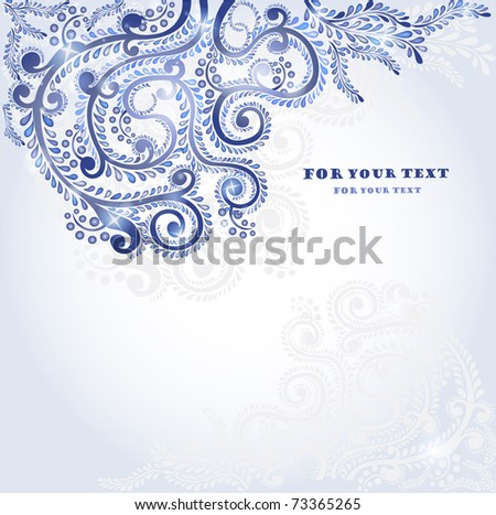 winter plant pattern style background
