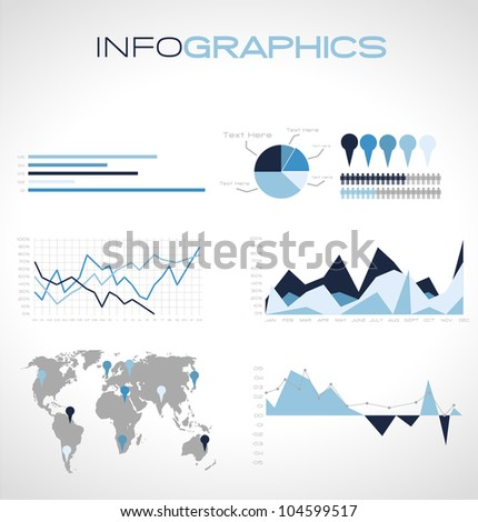 Winter reports - stock vector