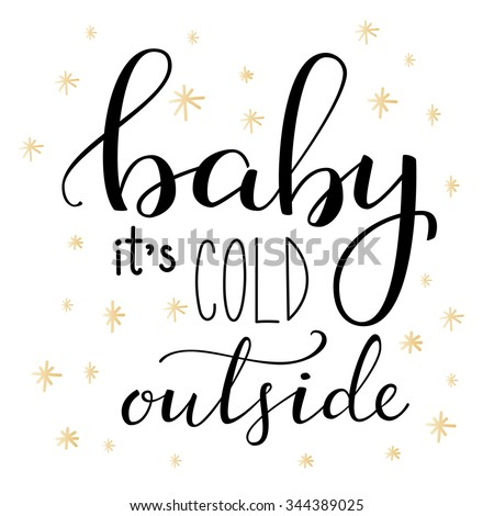 winter romantic lettering