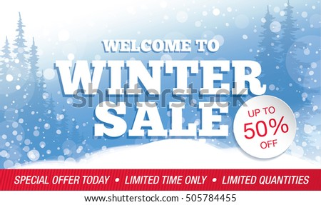 Winter Sale Banners Kid Store Banners