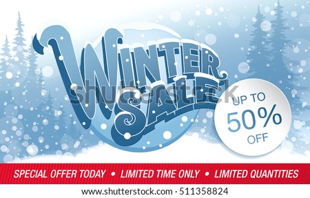 Winter Sale Banners Ornament Banners