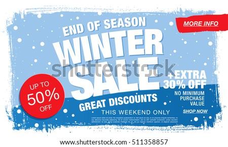 Winter sale banner. Vector illustration - Shutterstock ID 511358857