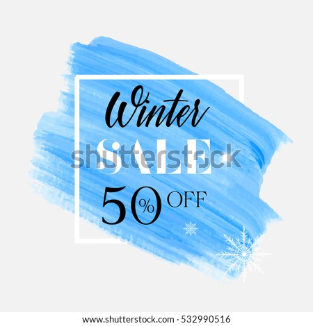 winter sale 50  off sign over